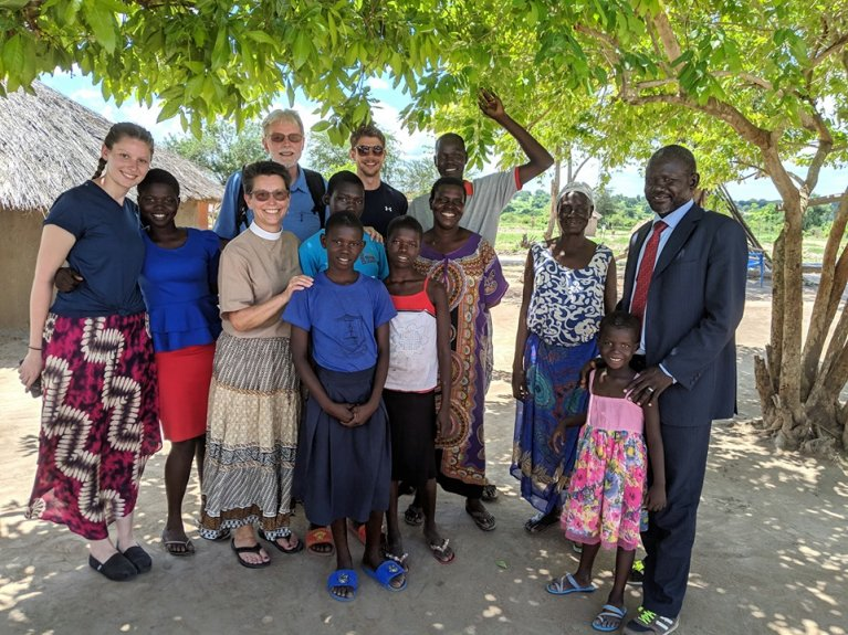 The Rev. Donna Stecklin and her family traveled to South Sudan recently for a mission trip
